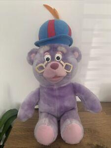 Zummi Gummi Teddy Bear Soft Toy Vintage 80s Fisher Price Purple Plush Gummy Bear