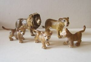 Schleich Lion Family 5 Pieces Late 1990s-2000