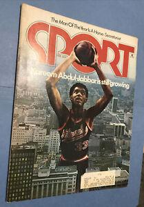 KK205 Sport Magazine Feb 1974 Abdual Jabbar Secretariat Walt Frazier