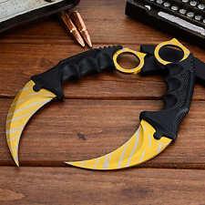 CSGO Knife Fade Karambit Cs Go Tooth Doppler Counter Strike Claw Fixed Knives