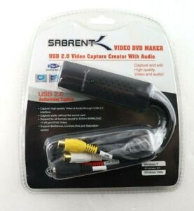 Sabrent USB 2.0 Video Capture Creator With Audio DVD Maker Adapter USB-AVCPT New