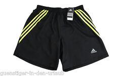 Adidas señores shorts fitness pantalones pantalones de deporte pantalones cortos negro l nuevo
