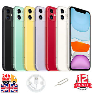 Apple iPhone 11 - 64GB 128GB 256GB - Unlocked Smartphone All Colours Excellent A