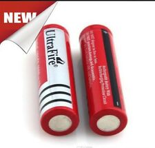 2 X UltraFire 18650  3.7v Rechargeable Li-ion Battery For Torch And Flashlight