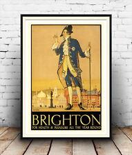 Brighton, Vintage Travel poster reproduction. Various sizes