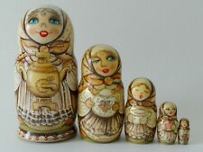 "Nesting Dolls ""Tea party"" Set of 5 (Russian Collection Sacramento) Sale!"