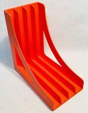 WITTNER vintage Orange plastic  LP vinyl rack organiser storage West Germany