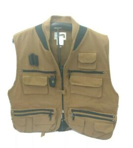 Cascade Utility Fly Fishing Vest Hunting Canvas Blackhawk Sz XXL Sportswear VTG