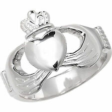Markenlose Echte Edelmetall-Ringe ohne Steine im Claddagh-Stil aus Sterlingsilber