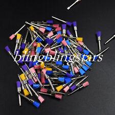100 Pcs Dental Prophy Polisher Brush Nylon Polishing Latch Flat Micro Colorful