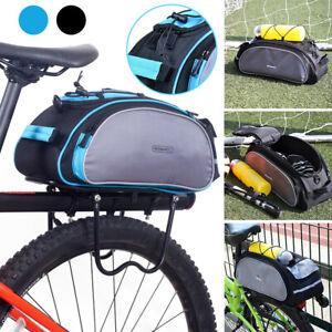 Bike Rear Seat Bag Bicycle Rack Storage Trunk Pannier Tail Handbag Shoulder Bag