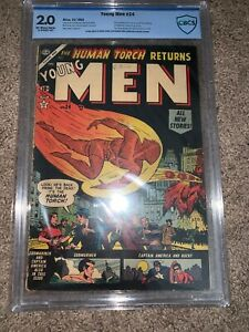 Young Men #24 CBCS 2.0 (Dec 1953) BEAUTIFUL PRESENTATION MARVEL ATLAS ORIGIN RET