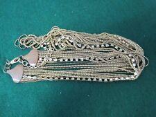 Gold tone Chain and diamante Multi Strand Necklace 73cm + 6cm ext chain