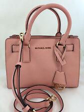 NEW Michael Kors MK Dillon Small Saffiano Leather Satchel Handbag Purse Pink