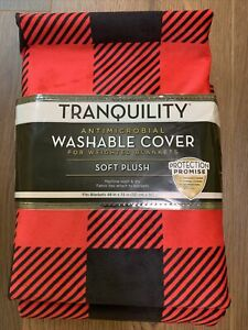"""Cover for Weighted Blanket Fits Blanket 48"""" x 72"""" Antimicrobial Washable Plaid"""