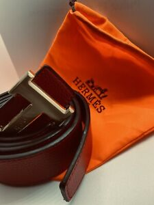 Authentic Hermes Men's Black Belt 110mmBlack with Buckle