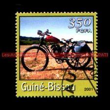 MOTO à Courroie Vélomoteur Guiné BISSAU Guinée BISSAO Timbre Poste Moto Stamp