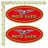 Adesivi moto guzzi ovale sticker auto moto tuning helmet casco print pvc 2 Pz.