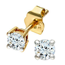 Naava 9 ct Yellow Gold 0.25 ct IJ-I2 Diamond Stud Earrings- (PE01862Y)