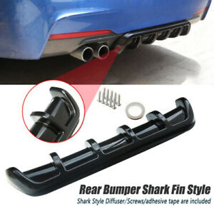 "25""x5"" Universal Car Rear Bumper Body Kit Shark Chin Spoiler Diffuser Trim Cover"