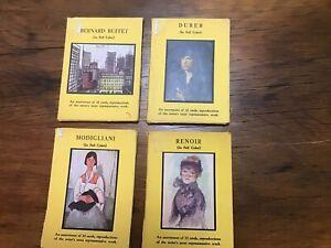 Vintage Lot of 40 Postcards, MODIGLIANI, RENOIR, DURER, BERNARD BUFFET 1950s 60s