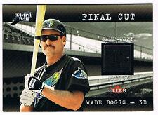 2001 Fleer Genuine Final Cut Wade Boggs GU Game Used Jersey Relic Tampa Bay Rays