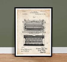 TYPEWRITER VINTAGE TYPE WRITER SHOLES US PATENT PRINT 18X24 POSTER GIFT 1896