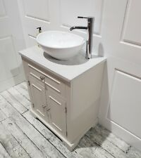 Solid Surface Worktop Painted Vanity Unit 800 Wide bathroom Wash Stand