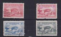APD239) Australia 1932 Sydney Harbour Bridge set of 4, fine postally used
