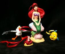 Disney the Little Mermaid 30th Anniversary Christmas Ornament set Ariel friends