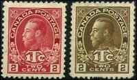 Canada #MR3,MR4 mint VF OG HR/VVLH King George V Admiral War Tax CV$100.00