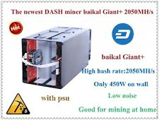 Baikal Giant+ Dash Miner 2000mh/s X11 With Power Supply Only 450w