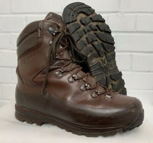 ITURRI BROWN LEATHER COLD WET WEATHER COMBAT BOOTS - 8 Med , British Army Issue