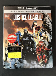 DC Justice League [ Limited Edition STEELBOOK ] (4K Ultra HD + Blu-ray) NEW