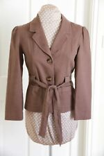 M & Co Brown size 10 hip length Jacket Trench Coat style with Belt hardly worn