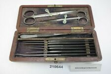 alt antik Mikroskopier Labor Besteck Mikroskop Besteck Metzeler usw #210644