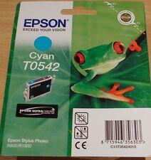 ORIGINALE EPSON T0542 to542 ciano Cartuccia Sigillata Originale Frog OEM INCHIOSTRO R800 R1800