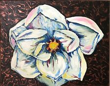 White Abstract Floral Art Paintings for sale | eBay