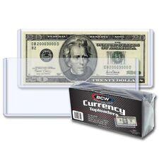 1 Case of 500 BCW Currency Topload Holder for Regular Bills Hard Rigid Plastic