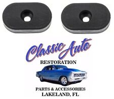 66-72 GM Seat Oval Back Stop Rubber Bumpers PAIR 7712535