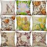 """18"""" Cotton Linen Printing Bird Flower Pillow Case Cushion Cover Home Decor"""