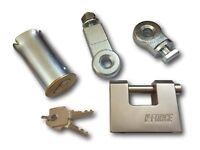 Narrow Body Roller Shutter Bullet Locks Oval 1 Pair On Same Key With 4 Keys