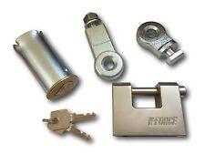 Roller Shutter Large Ground Anchor & Heavy Duty Steel Block-Lock Kit c/w 2 keys