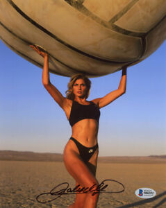 GABRIELLE REECE SIGNED AUTOGRAPHED 8x10 PHOTO MODEL BEACH VOLLEYBALL BECKETT BAS