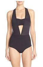 $184 L Space 'Angelina' Racerback One-Piece Swimsuit Black Size 10