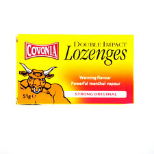 Covonia Double Impact Lozenges Warming Flavour Strong Original 51g