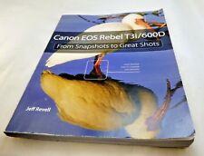 Canon EOS Digital Rebel T3i 600D camera guide instruction manual