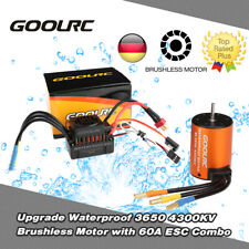 GoolRC Wasserdichte 3650 4300KV Brushless Motor + 60A ESC für 1/10 RC Auto Truck