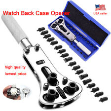 Wrench Screw Remover Tool Set Kit Watch Back Case Battery Cover Opener Repair