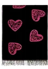 "Nwt Victoria's Secret Black Friday 2018 Throw Cozy Blanket 50"" X 60"" Pink Hearts"